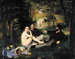 Edouard Manet: Aamiainen nurmikolla, 1863